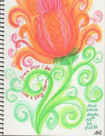 a fiery flower . . .