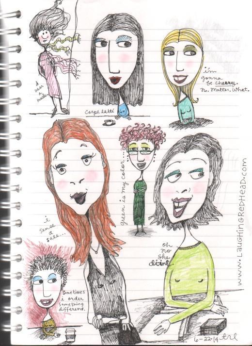 misc sketches - spokeswomen